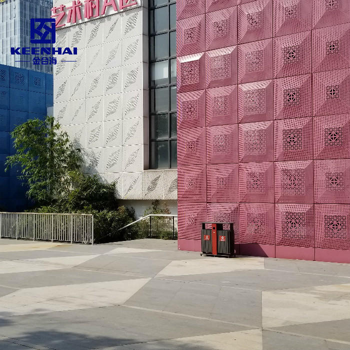 Modern Wall Architectural Perforated Aluminum Facade Cladding Panels