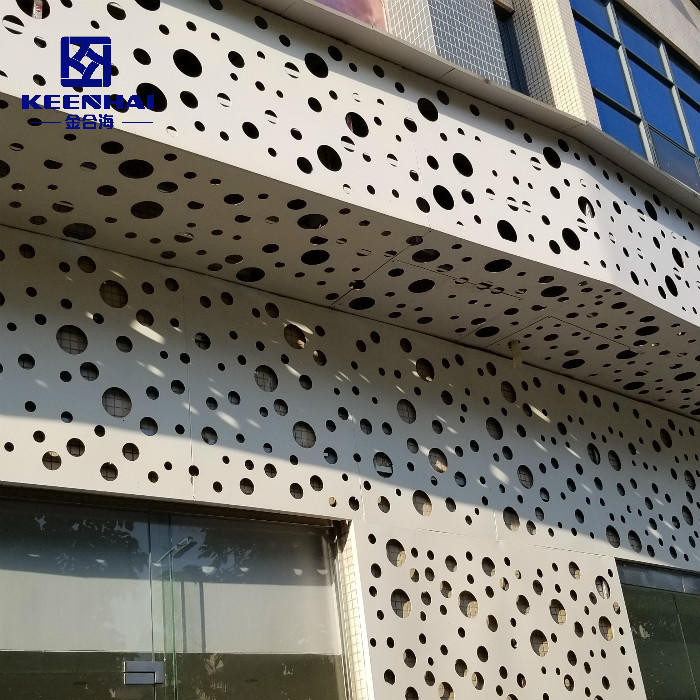 Aluminum Perforated Metal Facade Panels For Decoration