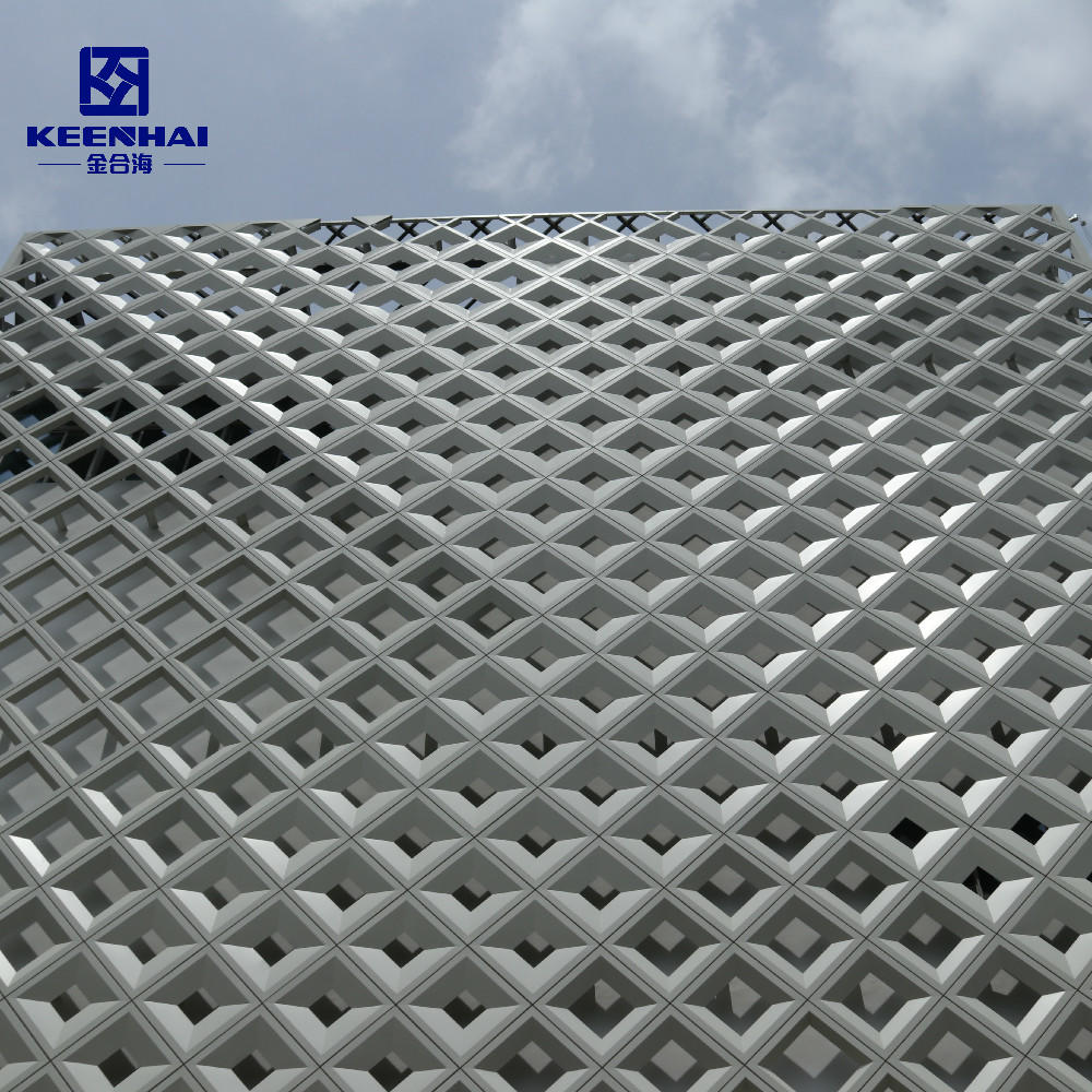 Perforated Wall Facade Panel For Building Decoration Curtain Wall System