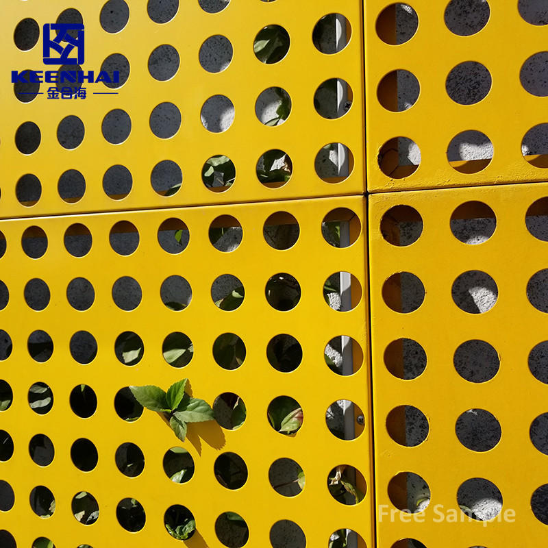 Fashion Exterior Building Facade Perforated Aluminum Out Wall Panel Curtain Wall