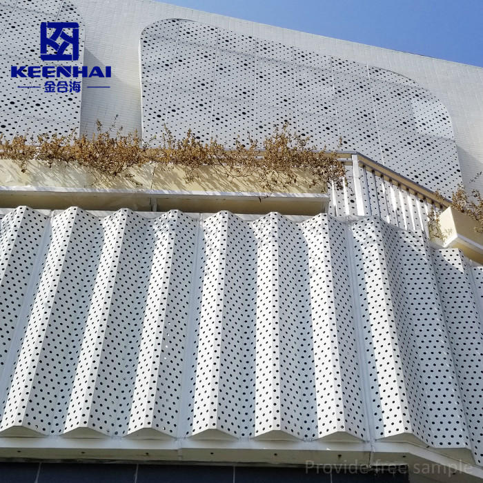 Aluminium Metal Perforated Cladding As Curtain Wall And Decoration