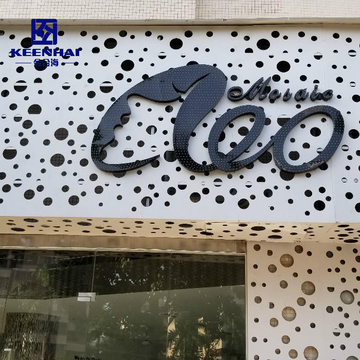 Building Facade System Perforated Aluminum Facade Cladding Panels