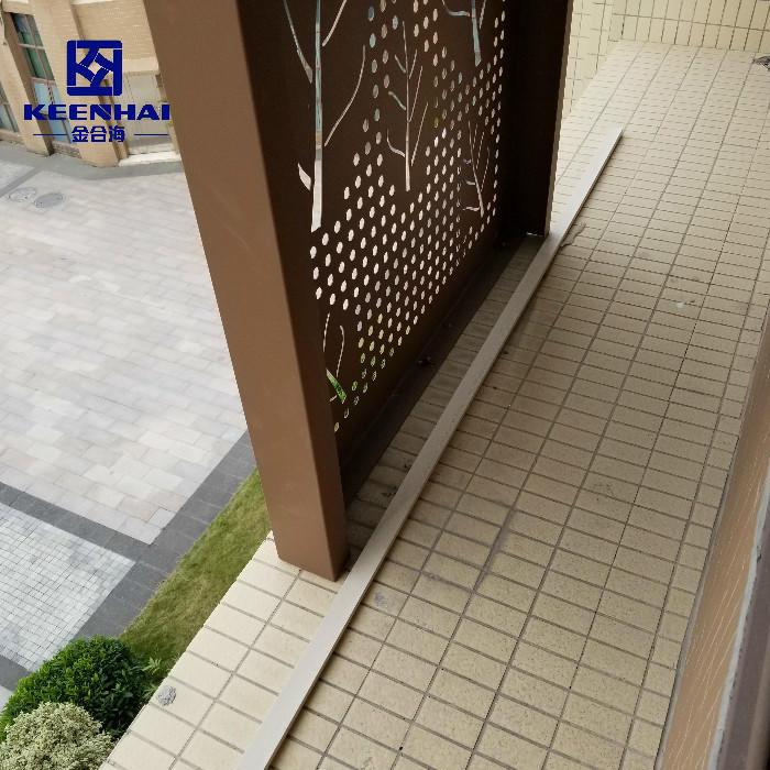 Aluminum Wall Cladding Materials Decorative Perforated Metal Panel
