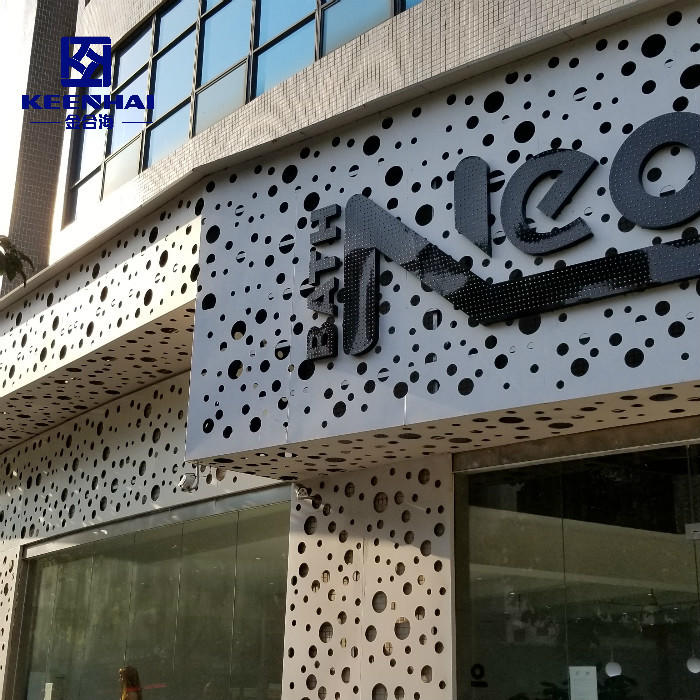 Modern Building Aluminum Material Perforated Panel for Facade With SGS