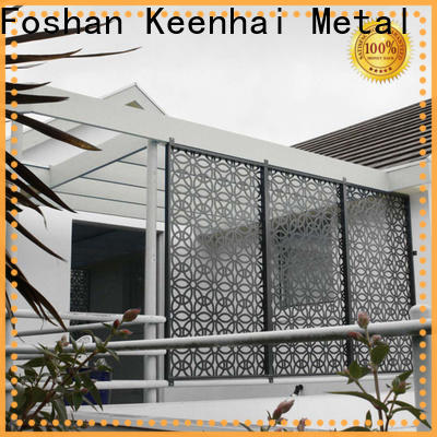 Keenhai fence decorative metal panels exterior supplier for hotel lobby