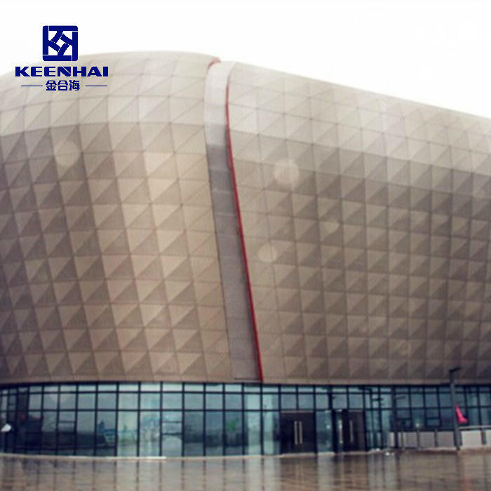 Exterior Wall Aluminum Facade Solid Panel Painted Treatment