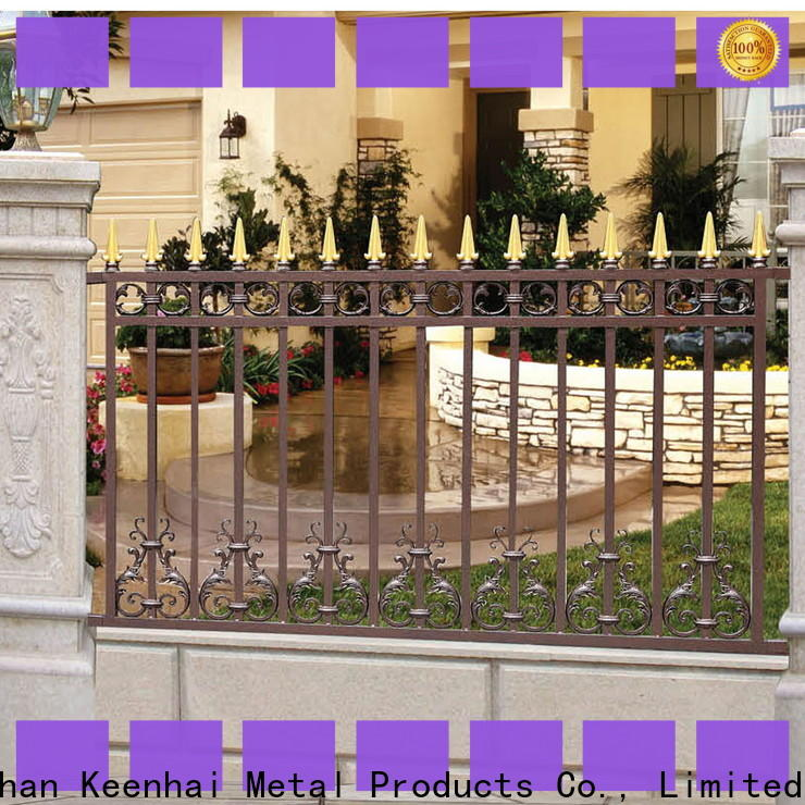 Keenhai low production cost fence panels manufacturer for public square