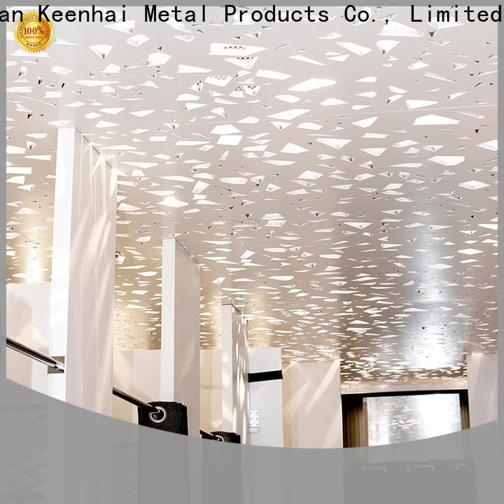 Keenhai shade laser cut ceiling panels supplier for decoration