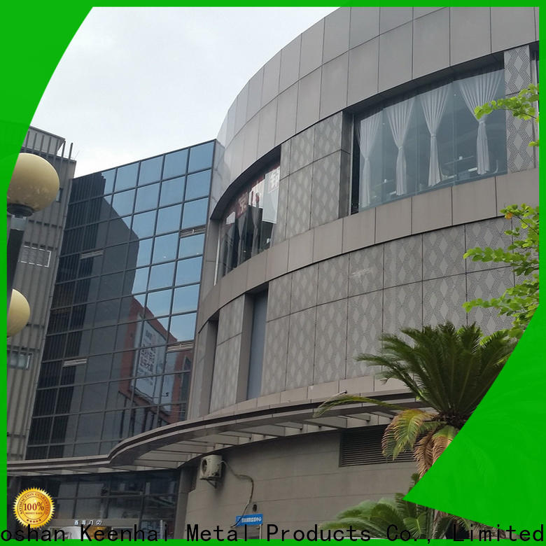 sturdy construction perforated metal sheet decoration installation for hotel