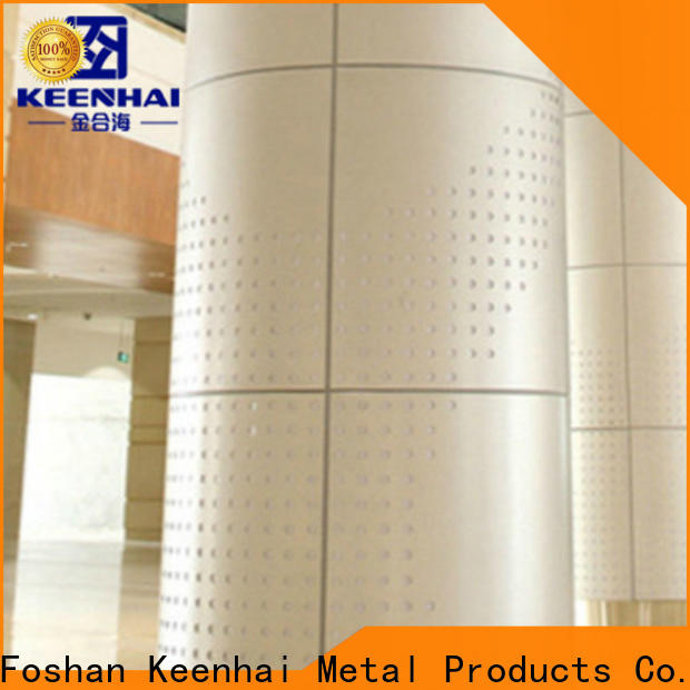 Keenhai laser metal column cladding supplier for interior decoration
