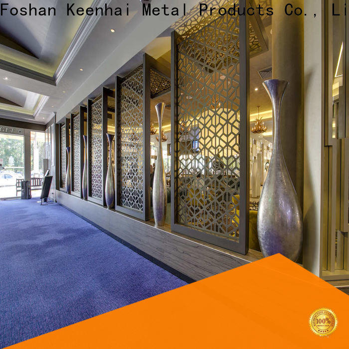 Keenhai exquisite craft metal stud partition for hotel
