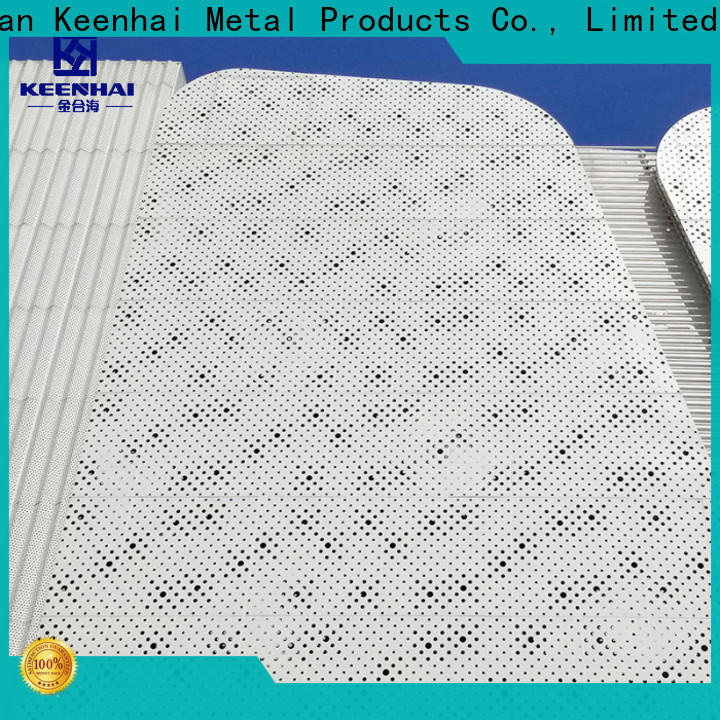 strong packing perforated aluminum panel cladding installation for industrial projects
