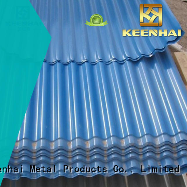 Keenhai strong packing corrugated metal panels installation for decoration