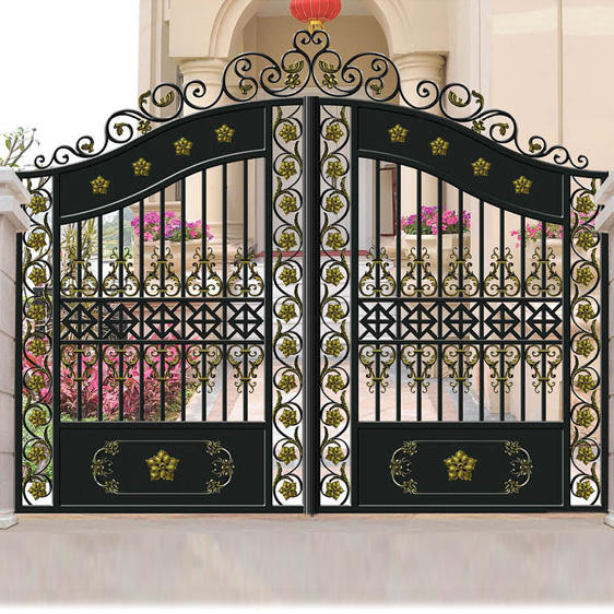 Aluminum Garden Gate Courtyard Metal Door