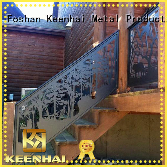 Keenhai high quality metal screen partition manufacturer for stairway