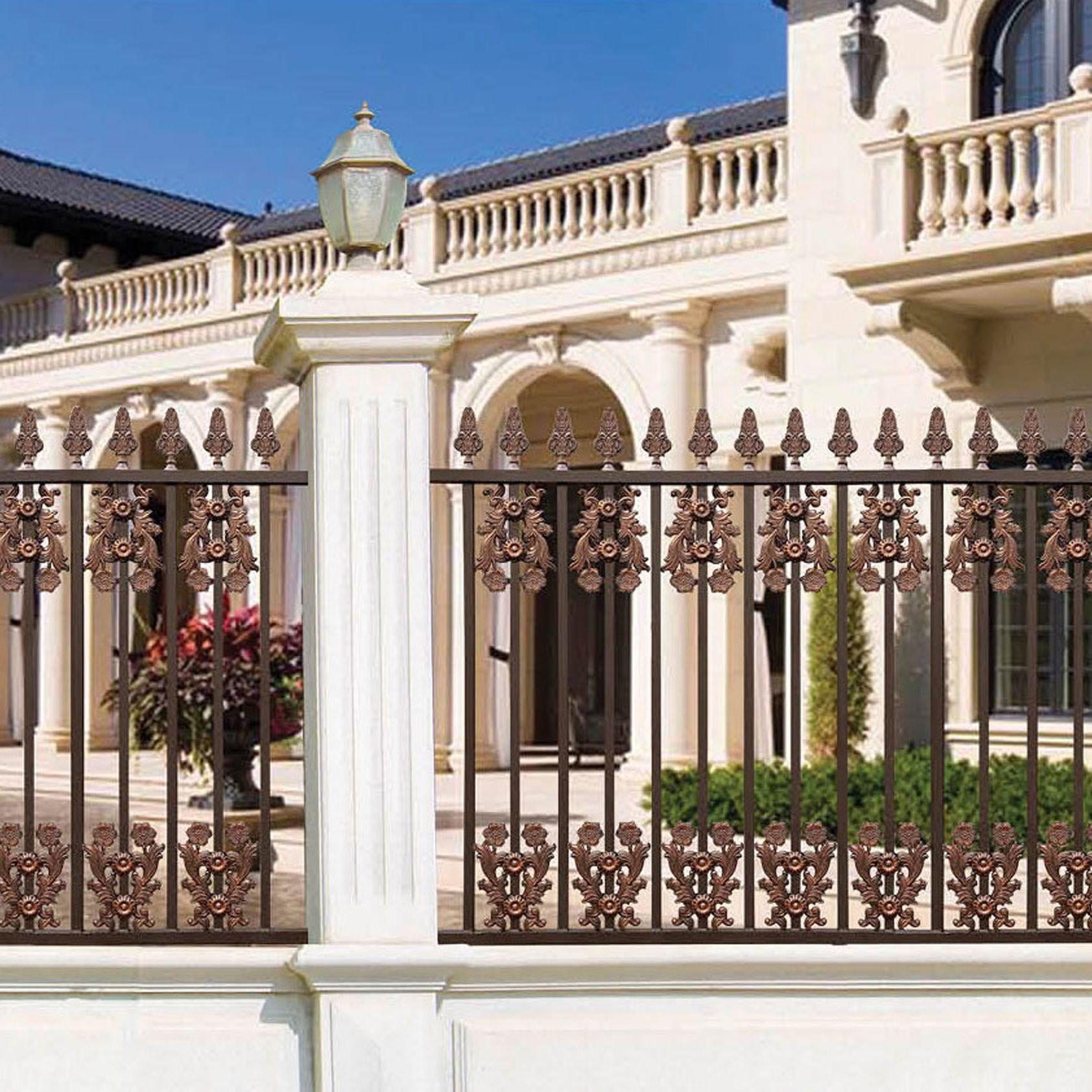 Aluminum Metal Fence For Courtyard Garden