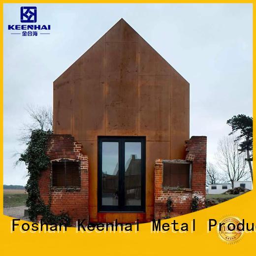 Keenhai steel corten steel panels supplier for indoor decoration