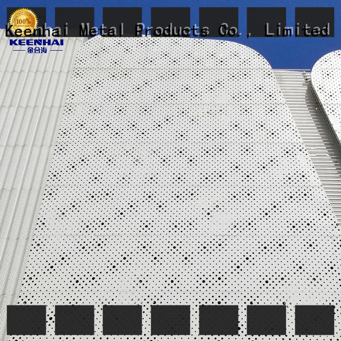 sturdy construction perforated metal sheet aluminum installation for hotel