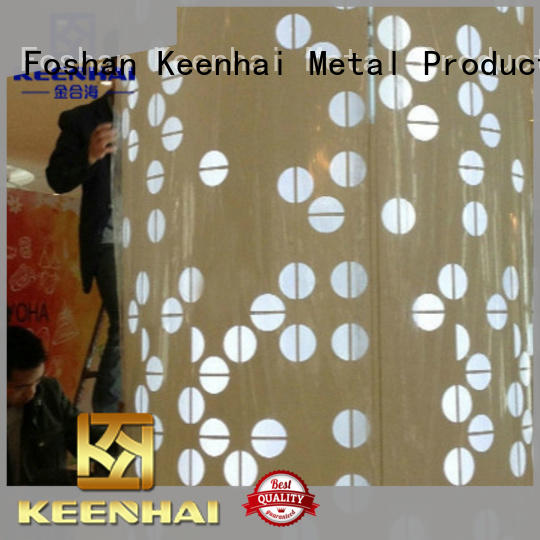 Keenhai metal external wall cladding from China for interior decoration