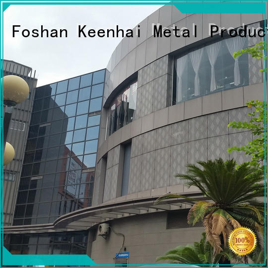 Keenhai latest perforated aluminum panel installation for decoration