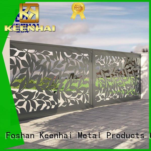 Keenhai low production cost aluminum fence for public square