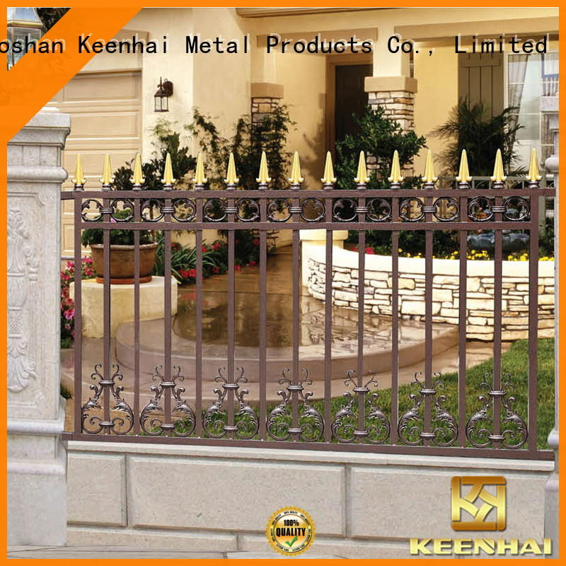 Keenhai low production cost outdoor fencing manufacturer for villa