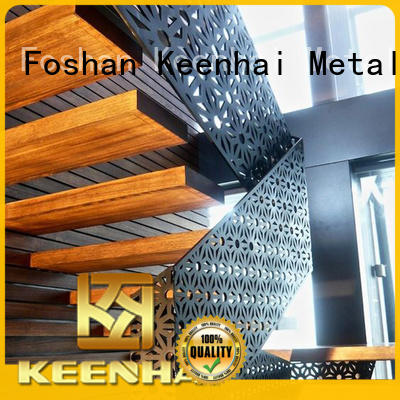 Keenhai laser metal screen panel supplier for staircase