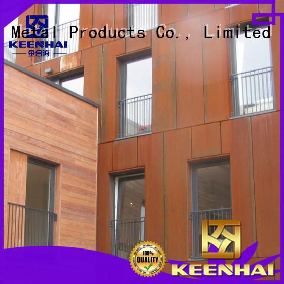 Keenhai exquisite corten steel sheet wall for interior decoration