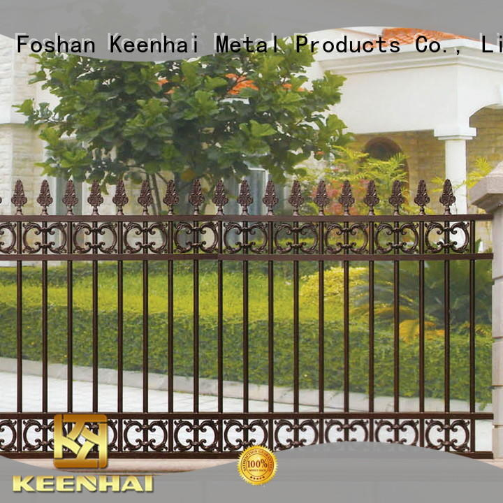 solid yard fencing panel for public square Keenhai