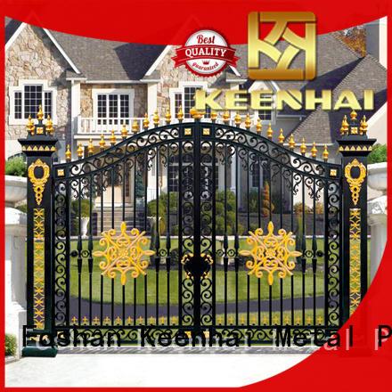 aluminum metal driveway gates garden for garden Keenhai
