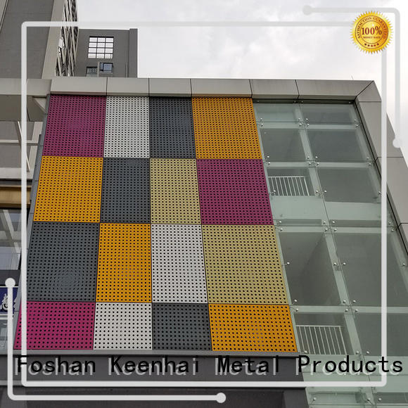 strong packing perforated aluminum panel metal design for industrial projects