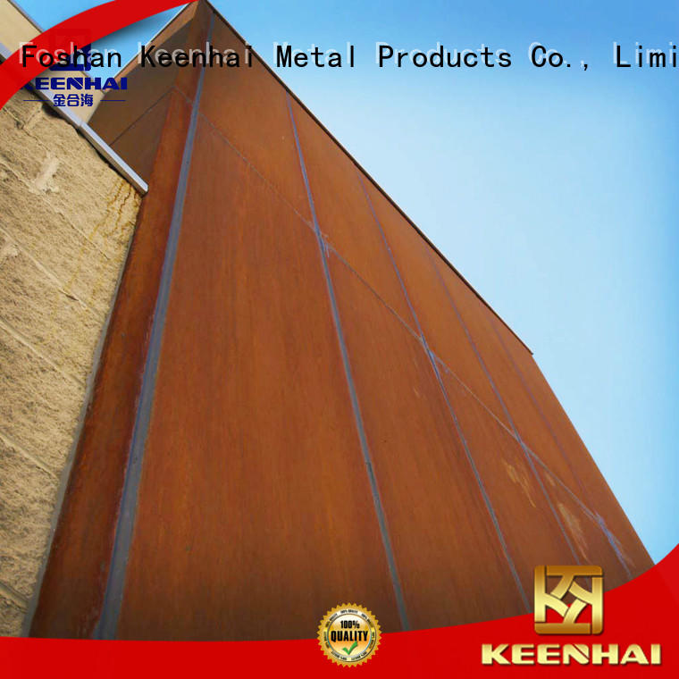 Keenhai standardized corten steel panels from China for decoration