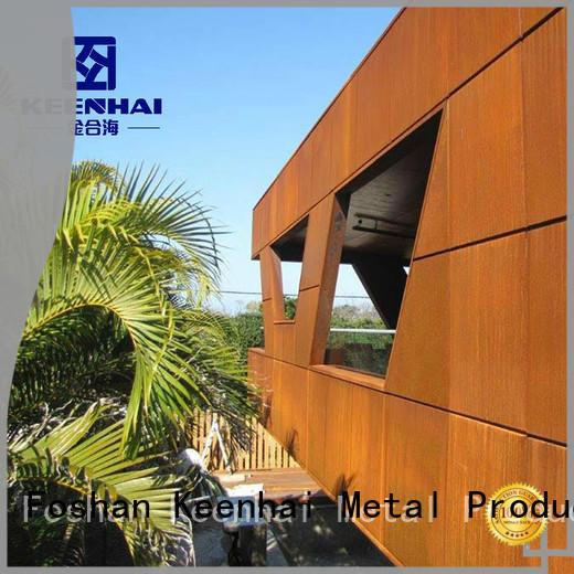 Keenhai delicate corten steel panels provider for indoor decoration
