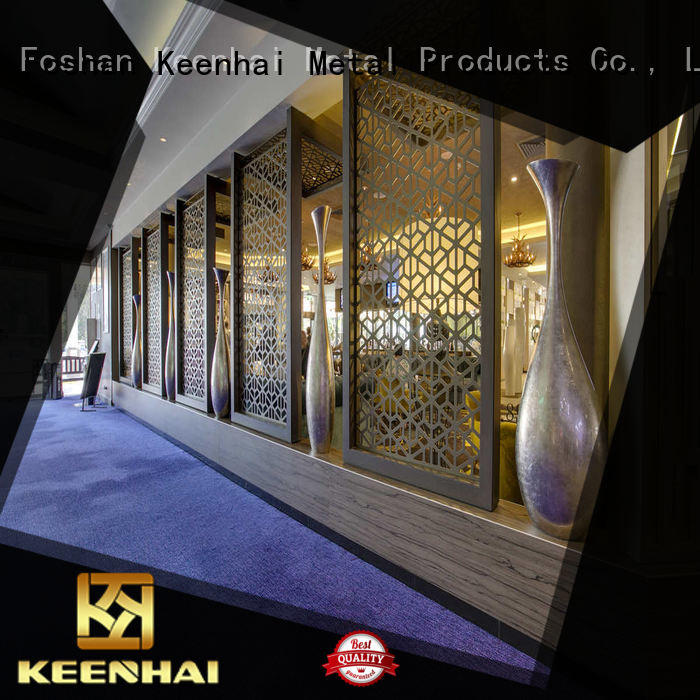 Keenhai exquisite craft metal stud partition wall stainless for decoration