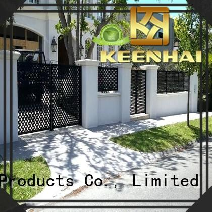 steel fence panels garden for decoration Keenhai