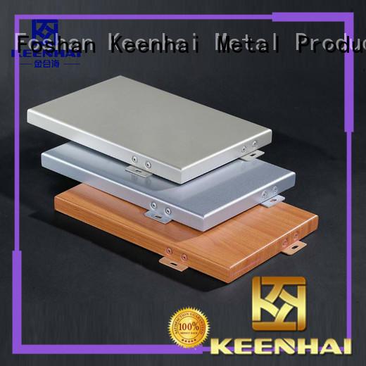 Keenhai solid aluminum wall panels design for exterior applications