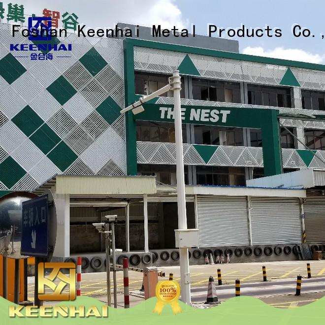 Keenhai exterior perforated aluminum sheet design for hotel