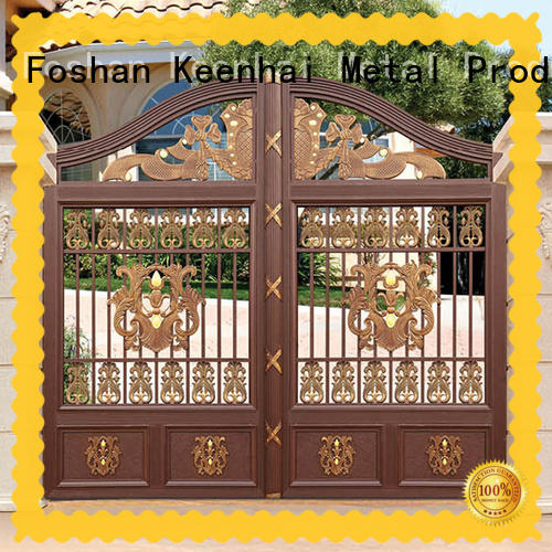 customized back garden gates aluminum factory for sale
