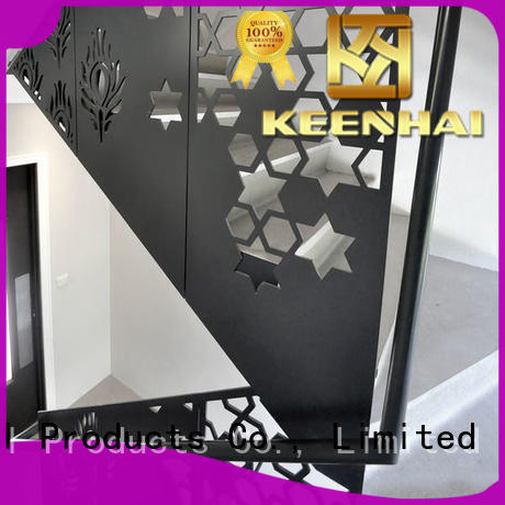 Keenhai low production cost room partition screen from China for stairs