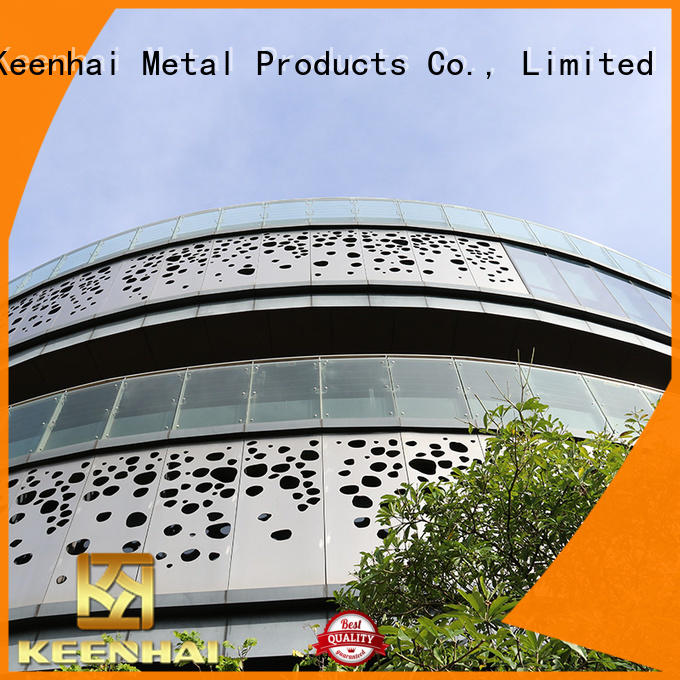Keenhai excellent decorative perforated metal panels outdoor for decoration