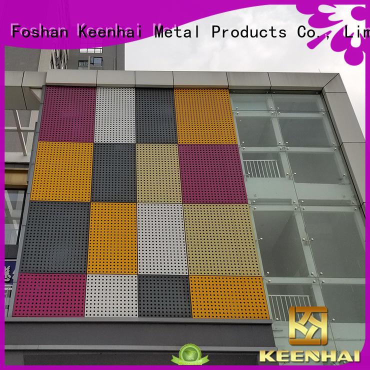 Keenhai wall perforated aluminum sheet fabrication for hotel