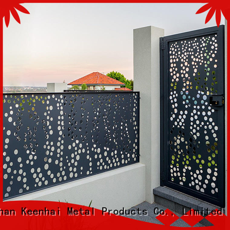 Keenhai cheap metal fence panels manufacturer for public square