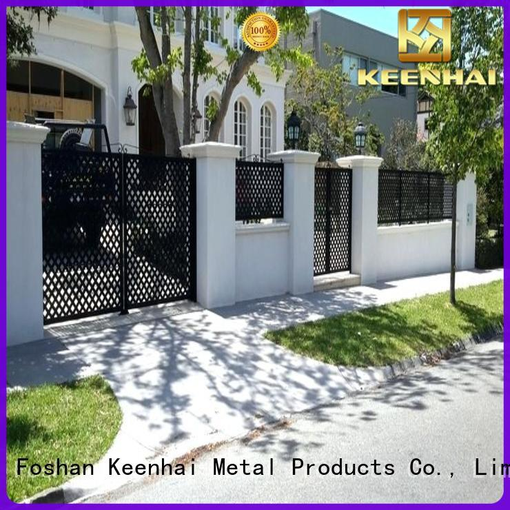 Keenhai low production cost best garden fence outdoor for villa