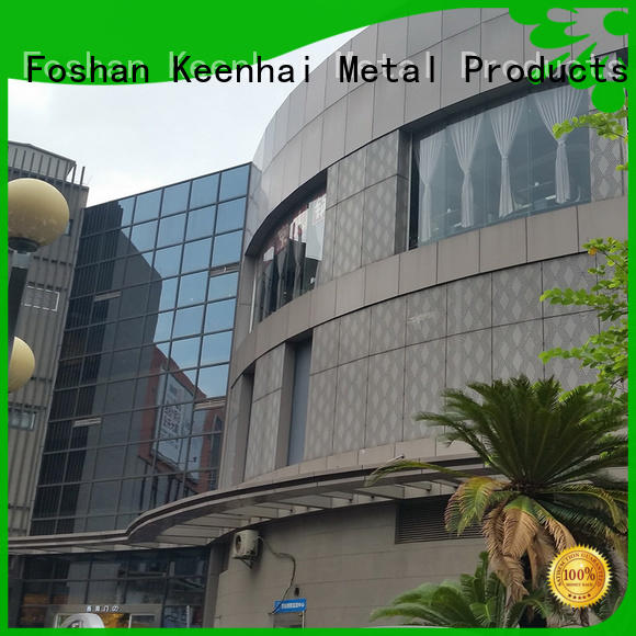 sturdy construction perforated aluminum sheet decoration installation for industrial projects