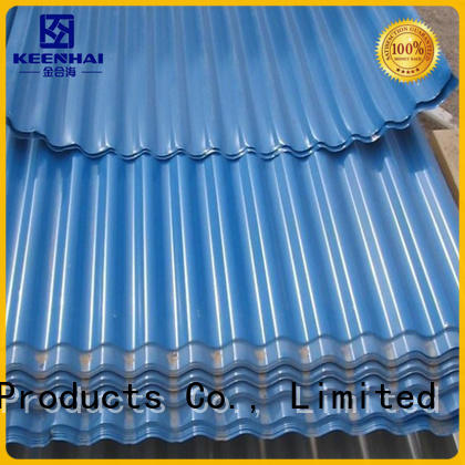 Keenhai strong packing corrugated metal panels fabrication for garden design