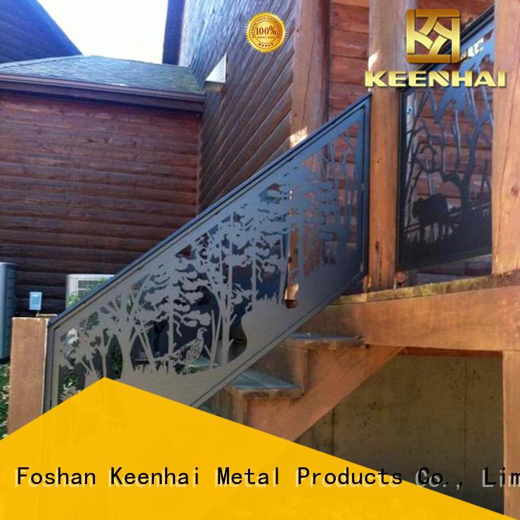 Keenhai cuting metal screen panel for staircase