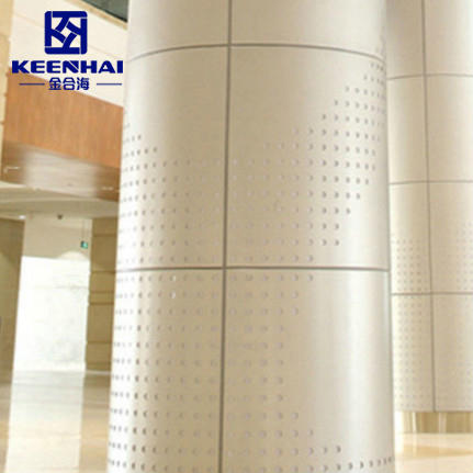 Laser Cut Metal Column Cladding Panel