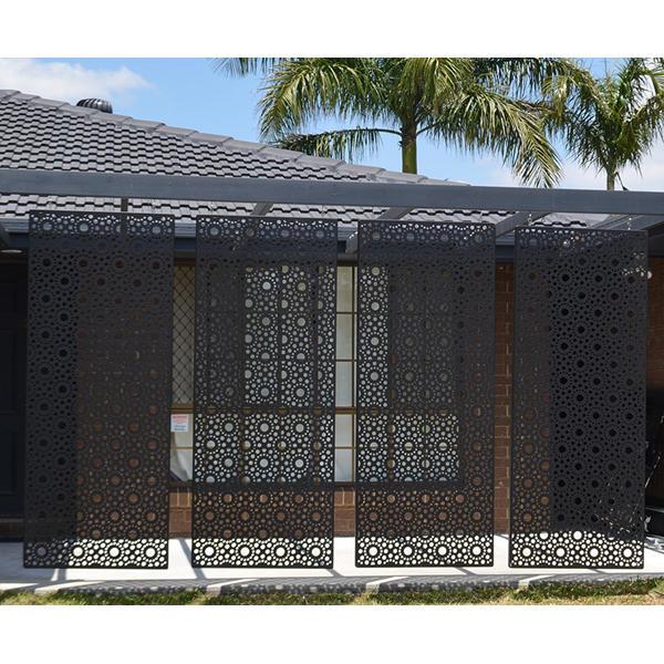 Decorative Aluminum Divider Metal Screen Exterior Doors and Frames