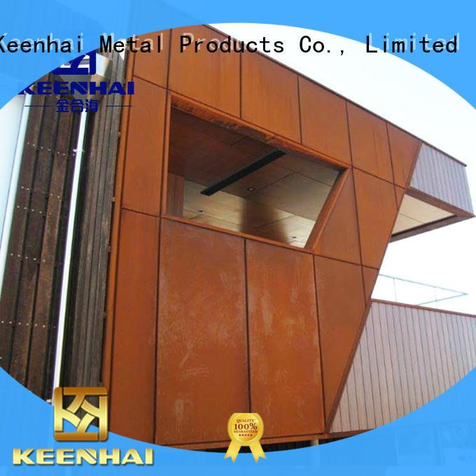 Keenhai corten corten steel cladding supplier for indoor decoration
