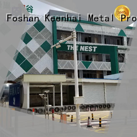 Keenhai exterior perforated metal sheet installation for industrial projects